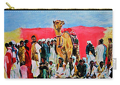 Camel Festival Carry-all Pouch by Khalid Saeed