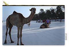 Camel On Beach Kenya Wedding 6 Carry-all Pouch