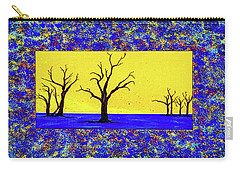 Carry-all Pouch featuring the painting Camel Thorn Trees  by Ken Frischkorn