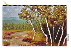 Carry-all Pouch featuring the painting Camel Top Birches by Jason Williamson