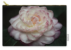 Camellia White And Pink Carry-all Pouch