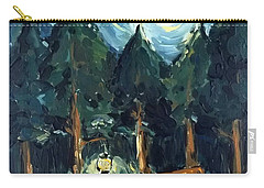 Carry-all Pouch featuring the painting Camp At Night by Maria Langgle