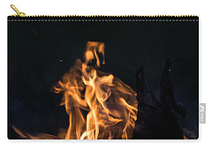 Camp Fire And Full Moon Carry-all Pouch by Cheryl Baxter