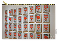 Carry-all Pouch featuring the photograph Campbell Soup By Warhol by Patricia Hofmeester