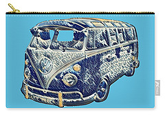 Carry-all Pouch featuring the photograph Camper Van Waves by John Colley