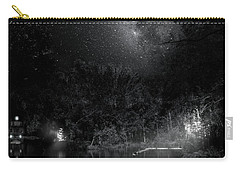 Carry-all Pouch featuring the photograph Campfires On Milky Way River by Mark Andrew Thomas