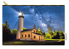 Cana Island Lighthouse Milky Way In Door County Wisconsin Carry-all Pouch