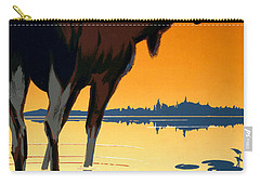 Canada Big Game Vintage Travel Poster Restored Carry-all Pouch