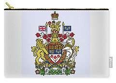Carry-all Pouch featuring the drawing Canada Coat Of Arms by Movie Poster Prints