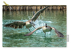 Canada Geese Chase 4906 Carry-all Pouch by Tam Ryan