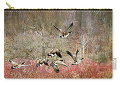 Canada Geese In Flight Carry-all Pouch
