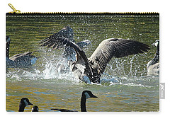 Carry-all Pouch featuring the photograph Canada Goose by Ann E Robson