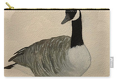 Carry-all Pouch featuring the painting Canada Goose by Donald Paczynski