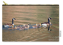 Canada Goose Family Carry-all Pouch by Mike Dawson