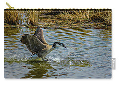 Canada Goose Takes Flight, Frank Lake, Alberta, Canada Carry-all Pouch