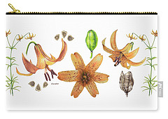 Canada Lily Collage Carry-all Pouch