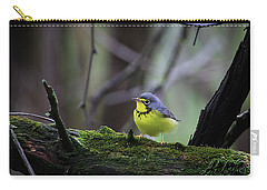 Carry-all Pouch featuring the photograph Canada Warbler by Gary Hall