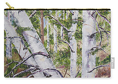 Canadian Birch Trees Carry-all Pouch