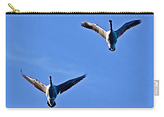 Carry-all Pouch featuring the photograph Canadian Geese 1644 by Michael Peychich