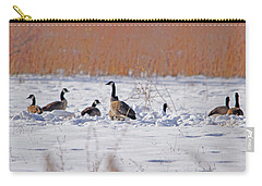 Canadian Geese At Sunrise I Carry-all Pouch