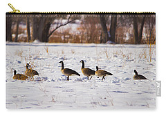 Canadian Geese At Sunrise II Carry-all Pouch
