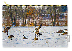 Canadian Geese At Sunrise IIi Carry-all Pouch