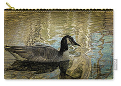 Canadian Goose Carry-all Pouch by Steven Richardson