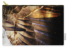 Carry-all Pouch featuring the digital art Canadian Goose Wing  by Ayasha Loya