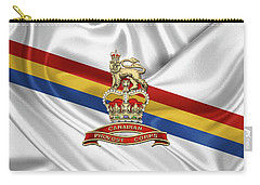 Canadian Provost Corps - C Pro C Badge Over Unit Colours Carry-all Pouch by Serge Averbukh