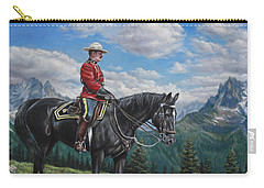 Carry-all Pouch featuring the painting Canadian Majesty by Kim Lockman