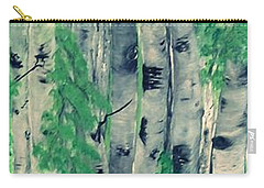 Carry-all Pouch featuring the painting Canadian White  Poplar by Sharon Duguay