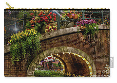 Canal And Bridge  Carry-all Pouch by Sandy Moulder