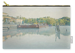 Carry-all Pouch featuring the photograph Canal In Pastels by Everet Regal
