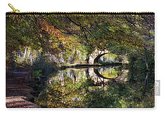 Canal Path In Autumn Carry-all Pouch by Shirley Mitchell