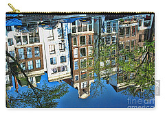 Carry-all Pouch featuring the photograph Amsterdam Canal Reflection  by Allen Beatty