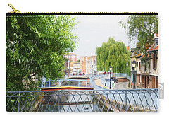 Carry-all Pouch featuring the photograph Canal View In Amiens by Therese Alcorn