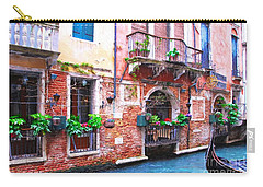 Carry-all Pouch featuring the photograph Canals Of Venice # 5 by Mel Steinhauer