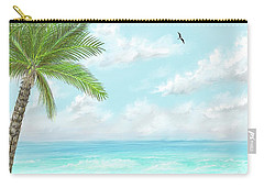 Carry-all Pouch featuring the digital art Cancun At Christmas by Darren Cannell