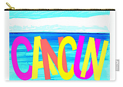 Cancun Poster T-shirt Carry-all Pouch