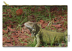 Candid Creeping Common Iguana  Carry-all Pouch by DejaVu Designs