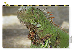 Candid Of A Green Iguana Carry-all Pouch by DejaVu Designs