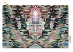 Carry-all Pouch featuring the digital art Alignment by Mark Greenberg