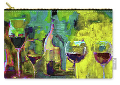 Candle In A Tall Wine Glass By Lisa Kaiser Carry-all Pouch