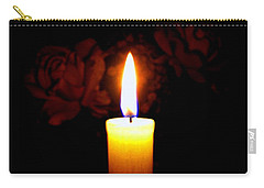 Candlelight And Roses Carry-all Pouch