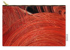 Carry-all Pouch featuring the digital art Candy Chaos 2 Abstract by Andee Design