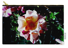 'candy Land' Rose In Abstract Carry-all Pouch