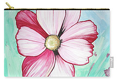 Candy Stripe Cosmos Carry-all Pouch by Mary Ellen Frazee