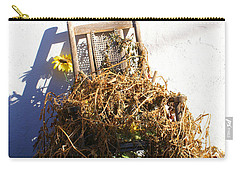 Cane Back Chair And Sunflower Carry-all Pouch