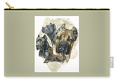 Cane Corso W/ghost Carry-all Pouch by Barbara Keith