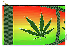 Carry-all Pouch featuring the mixed media Cannabis  by Dan Sproul